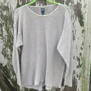 🌺GAP loose knit Pullover tan sweater size large!